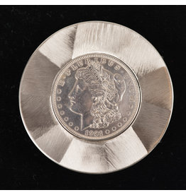 Morgan Silver Dollar Round Belt Buckle