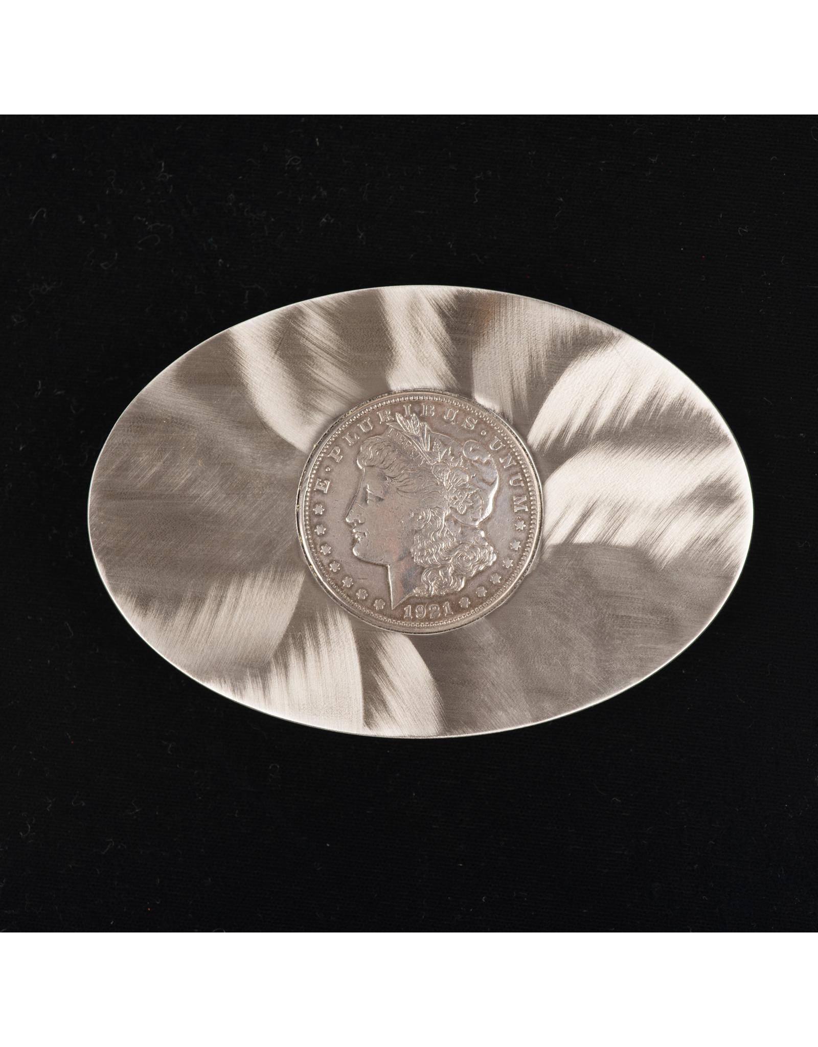 Morgan Silver Dollar Flat Belt Buckle