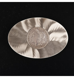 Morgan Silver Dollar Flat Belt Buckle