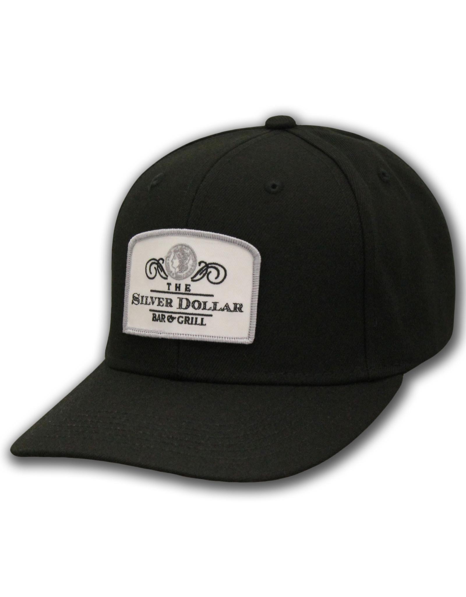 "The ""Silver Dollar Bar & Grill"" Black Snap Back Ball Cap"