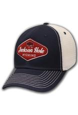 Mesh Red Buffalo Jackson Hole Label Cap