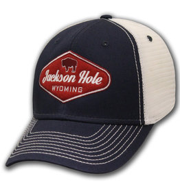 Mesh Red Buffalo Jackson Hole Label Cap
