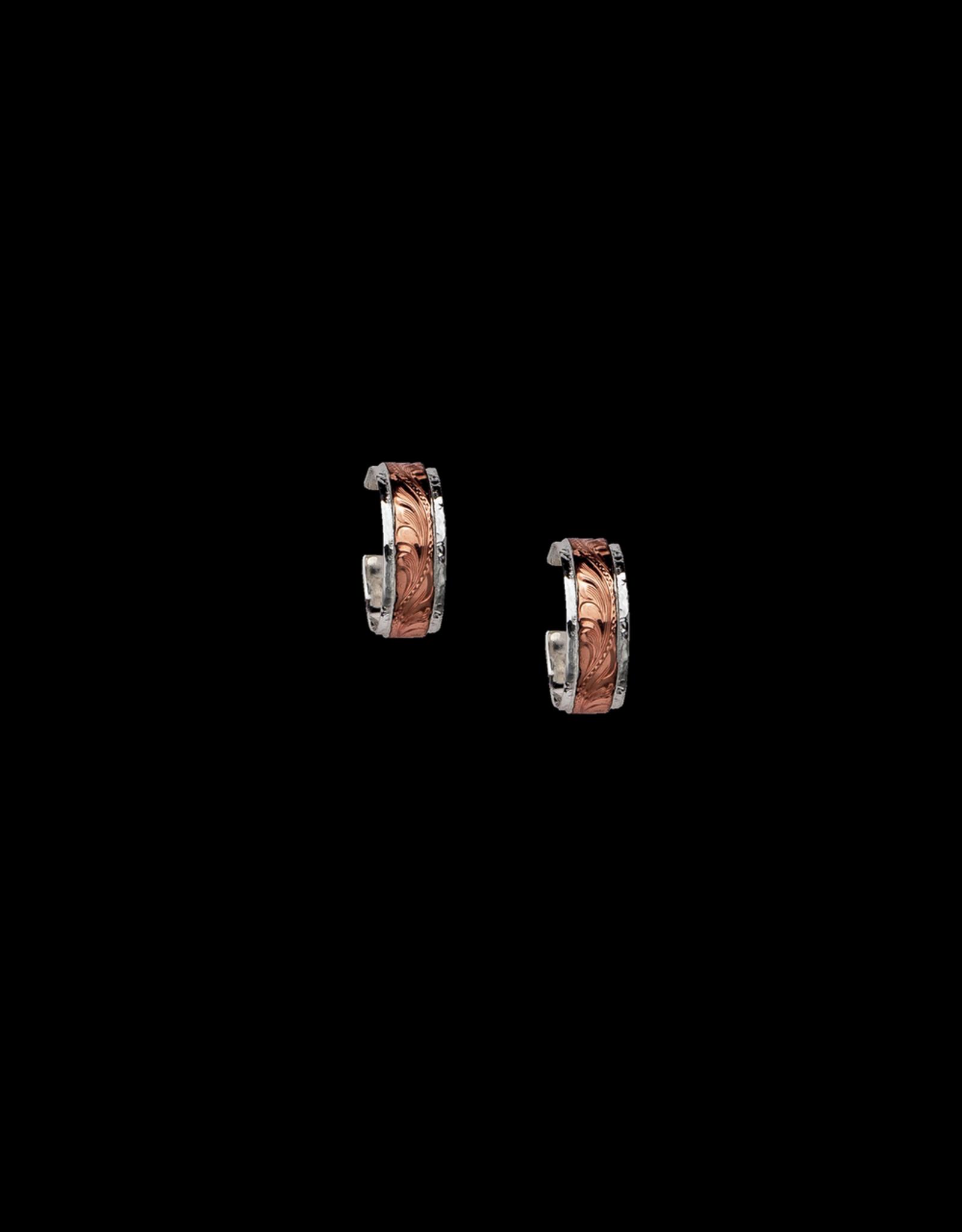 Red Canyon Hoops Earrings