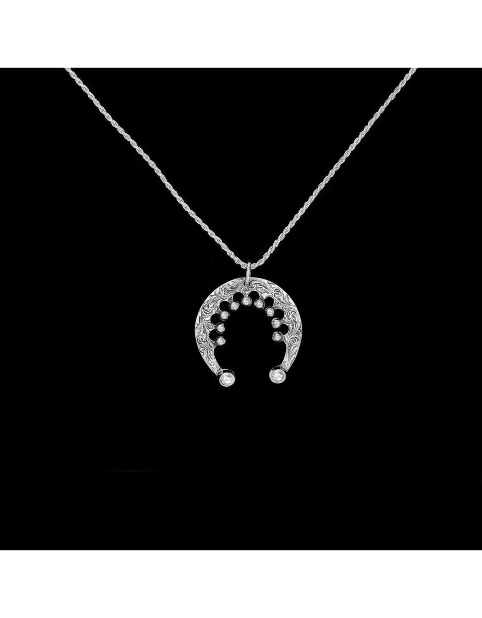 Half Moon Pendant w/ center beads