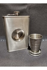 Silver Dollar Bar and Grill  8oz Flask w/ Collapsible Shot