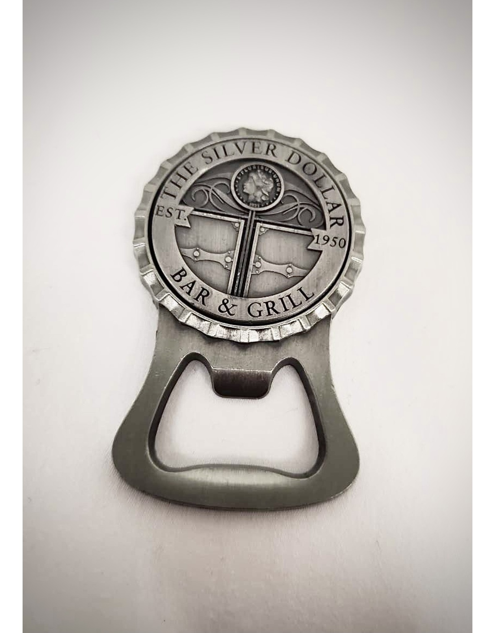 Silver Dollar Bar and Grill Bottle Opener Magnet