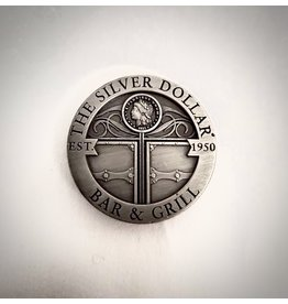 Silver Dollar Bar and Grill Round Magnet