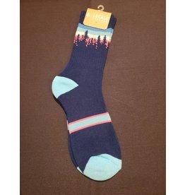 Locale Navy Treeline Socks