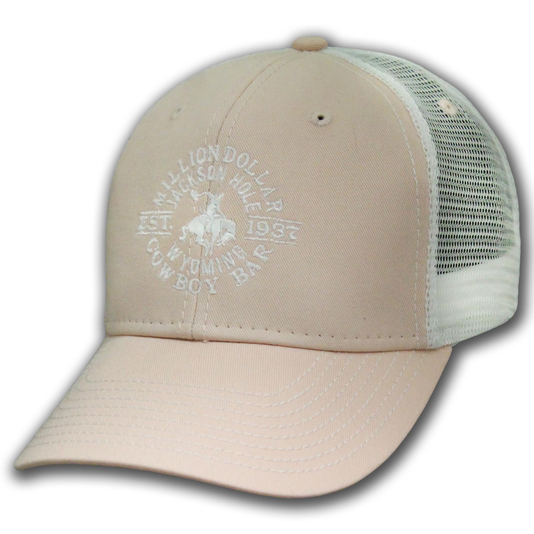 Women's Blush & White Mesh Cap
