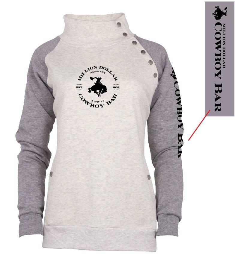 Cozy Asym Snap Front Pullover
