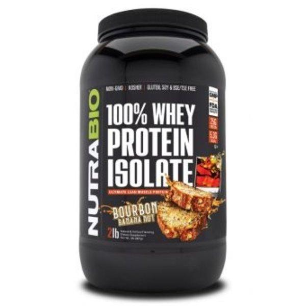 NutraBio 100% Whey Protein Isolate