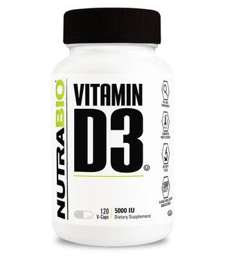NutraBio Vitamin D3 5000iu 120ct