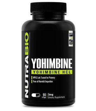 NutraBio Yohimbine HCl 3mg 90ct