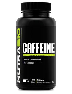 NutraBio Caffeine 200mg 150ct