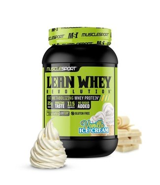 Muscle Sport Lean Whey 2lb Vanilla Ice Cream