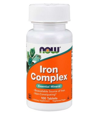 NOW Foods Iron Complex Vegetarian Tablets