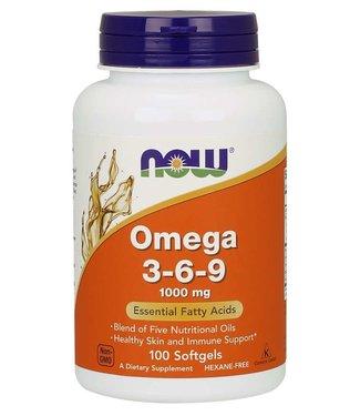 NOW Foods Omega 3-6-9 1000 mg  100 Softgels