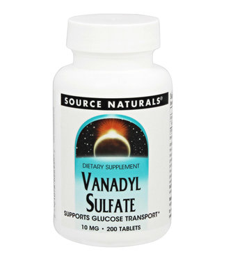 Source Naturals Vanadyl Sulfate 10mg 200 Tablets