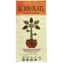 Chocolate con Leche Sin Azúcar 36.6% de Cacao Ki Xocolatl 80 gr.