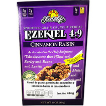 Cereal Ezekiel 4:9 Sin Harina Con Pasas y Canela FFL 454 gr