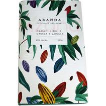 Chocolate + Cacao Nibs + Canela + Vainilla Aranda 100 gr.