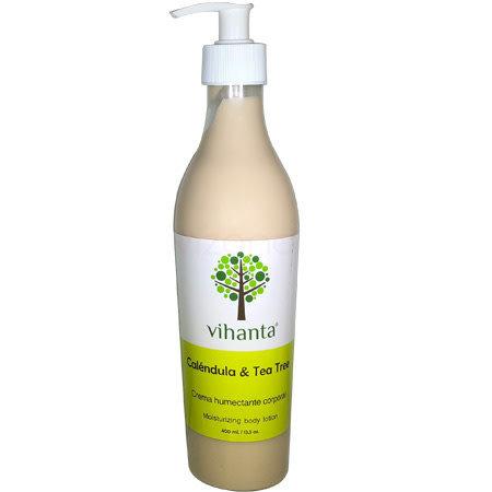 Crema humectante corporal Calendula y Arbol de te Vihanta 400ml