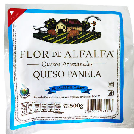 Queso Panela Flor de Alfalfa 500 gr.