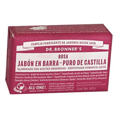 Jabon en Barra de Castilla Rosa DB 140gr