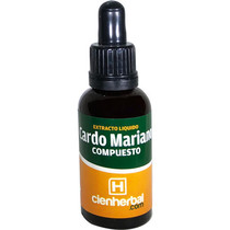 Extracto Herbal Cardo Mariano Compuesto CienHerbal 30 ml.