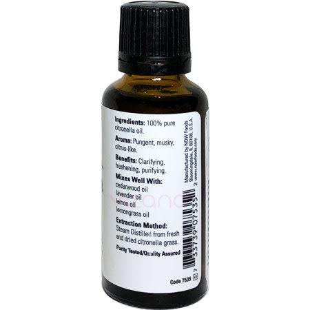 Aceite Esencial de Citronella Now 30 ml