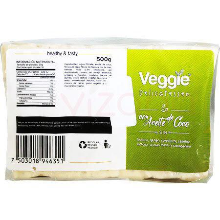 Queso Vegano Mozzarella Hierbas Finas Veggie Chesse 500 gr.