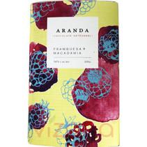 Chocolate Frambuesa + Macadamia 56% Cacao Aranda 105 gr.