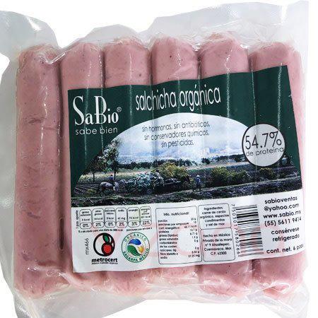 Salchichas Orgánicas de Cerdo SP 6 pz.