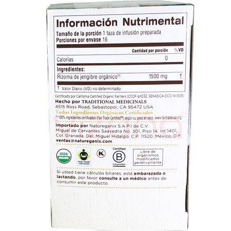 Té de Jengibre Traditional Medicinals 24 gr.