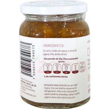 Mermelada de Durazno con chia Natura Bio Foods 280gr