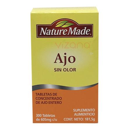 Tabletas de Ajo sin Olor NatureMade 300/605mg