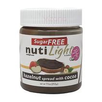 Crema de avellana con Cacao sin azucar Nutilight 312g