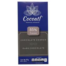 Chocolate Amargo Artesanal 85% Cacao Cocoatl 80gr