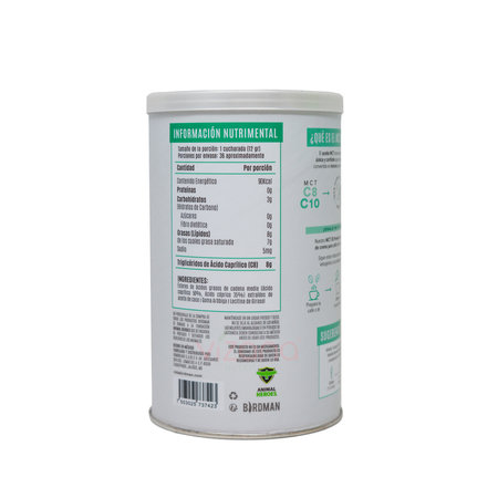 Aceite de MCT en polvo Birdman 432g