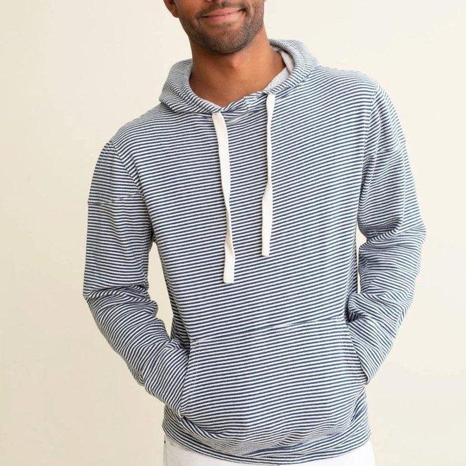 Striped Maui Hooded Sweatshirt in Blue/White
