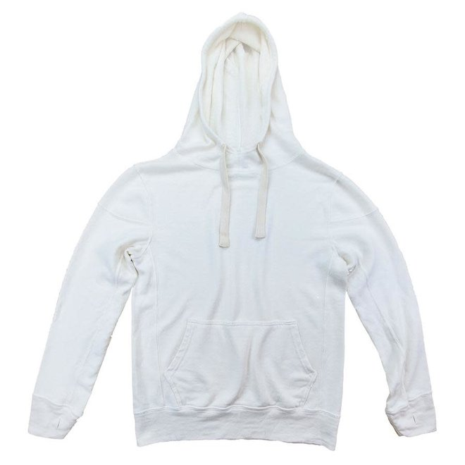 Maui Hooded Sweatshirt in Washed White
