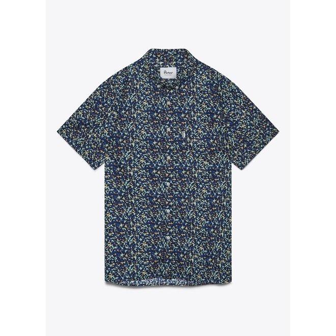 Reeves Print Shirt in Navy
