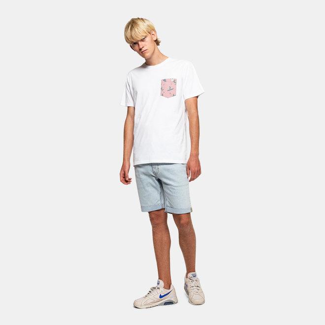 Buch Surf Short Sleeve T-Shirt in White