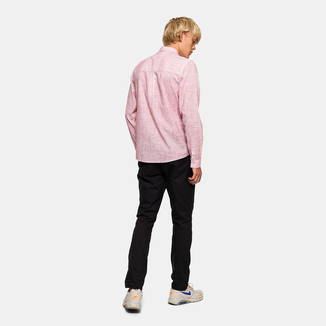 Munk Long Sleeve Shirt in Red