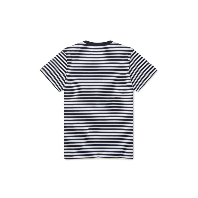 Classic Stripe Short Sleeve T-Shirt in Navy/White