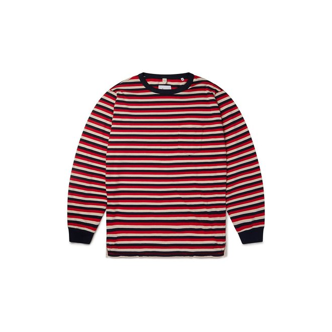 Classic Stripe T-Shirt in Red/Tan/Navy