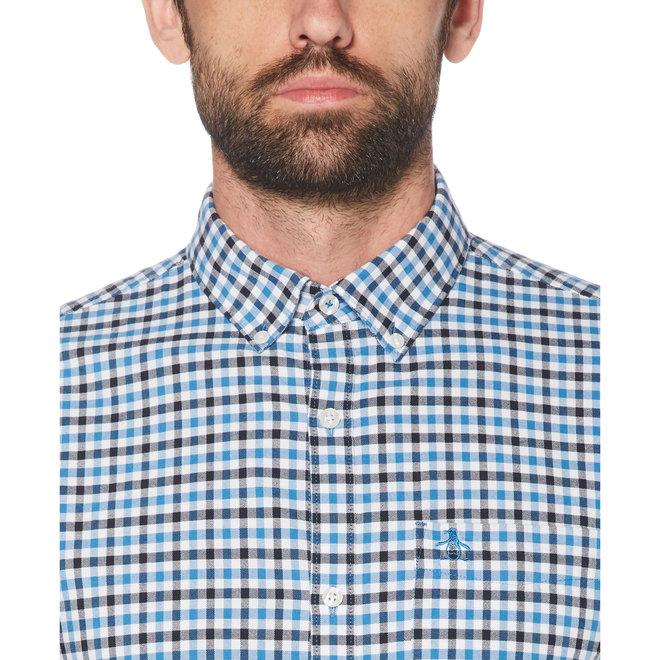 Tattersall Check Long Sleeve Shirt in Deep Water