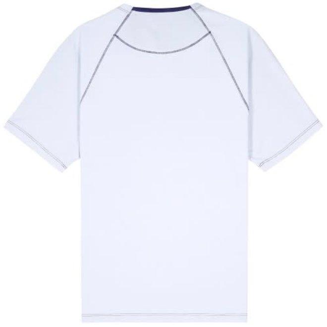 Jersey 30/1 Contrast Seam T-Shirt in Halogen Blue