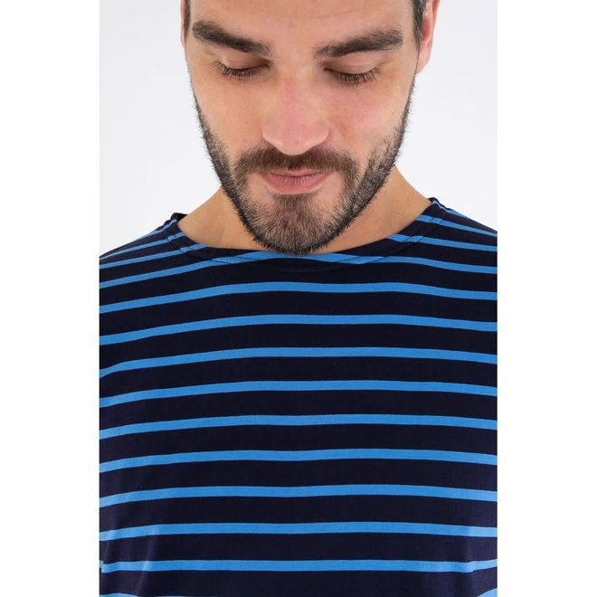 Sailor Short Sleeve T-Shirt in Navire/Lapis