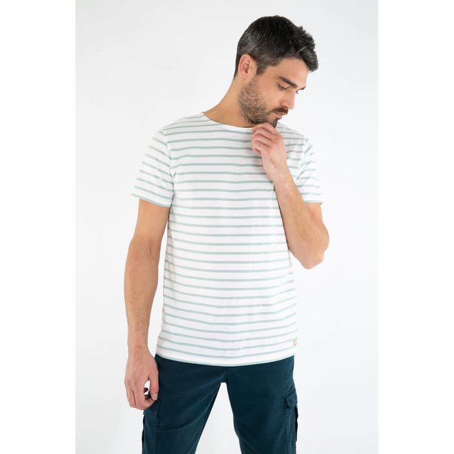 Sailor Short Sleeve T-Shirt in Blanc/Marsouin